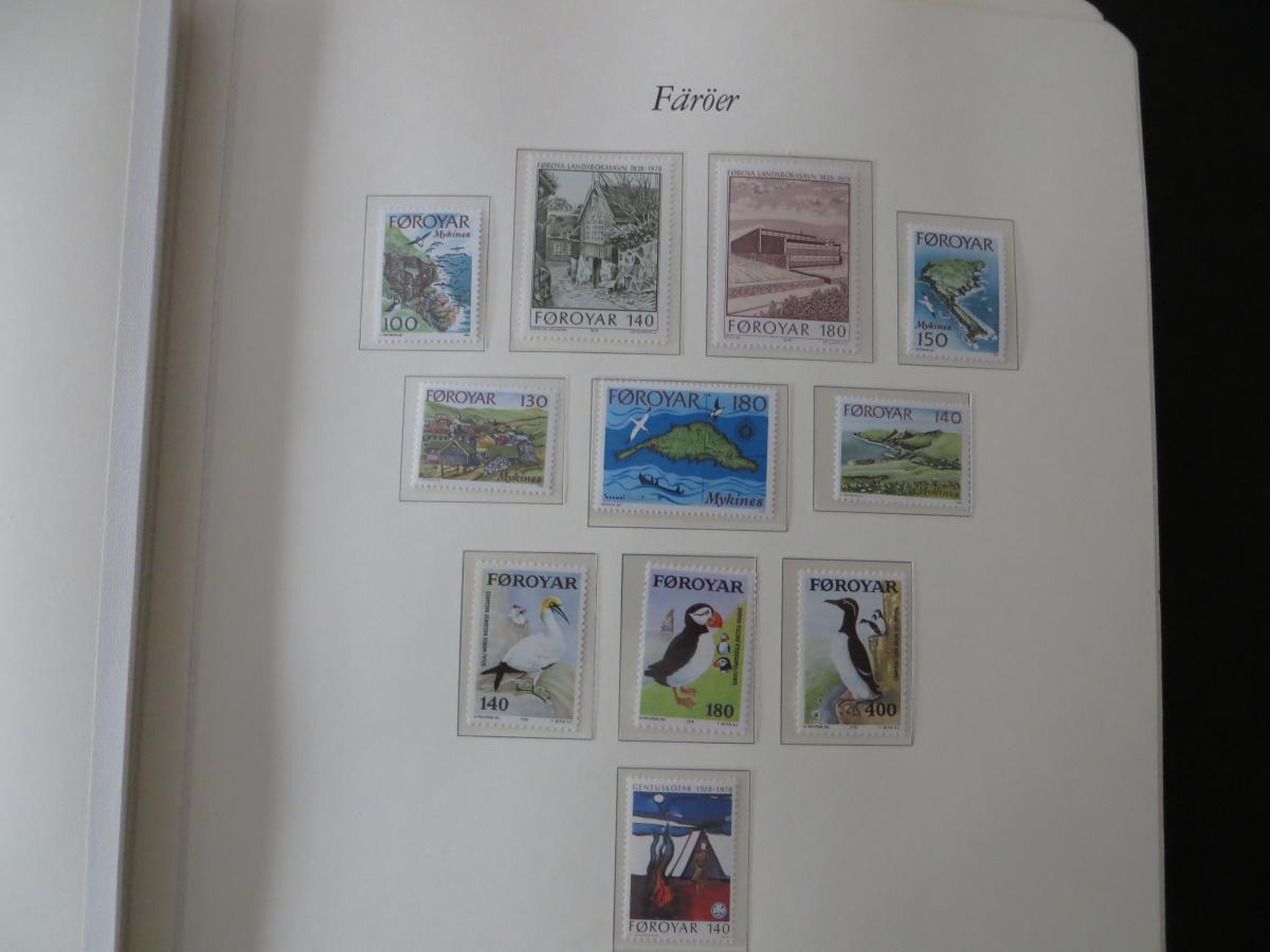 Färoer Luxus Sammlung 1975-1997 komlett posstfrisch auf Vordrucken Kat. 540,00 1