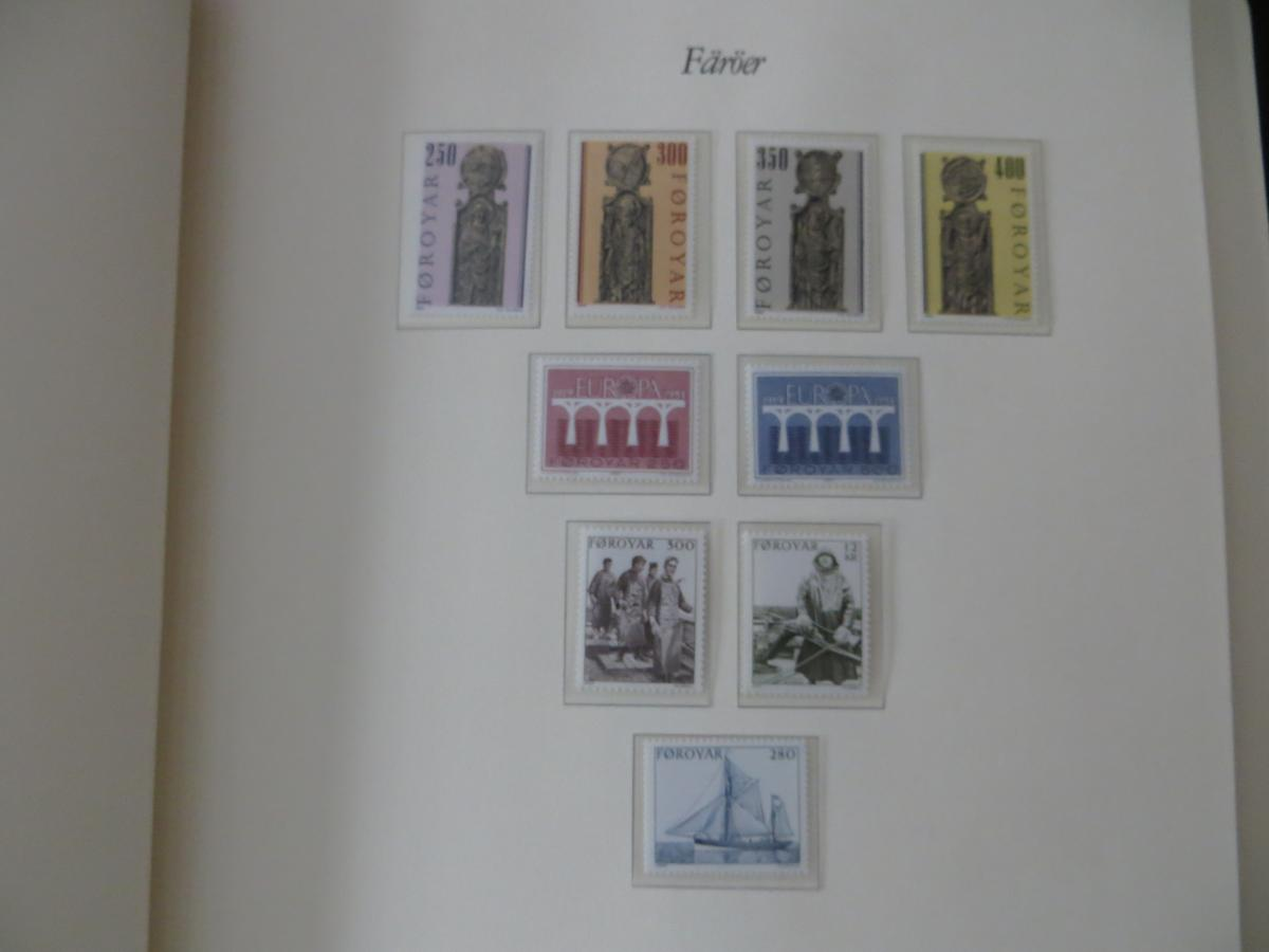 Färoer Luxus Sammlung 1975-1997 komlett posstfrisch auf Vordrucken Kat. 540,00 10