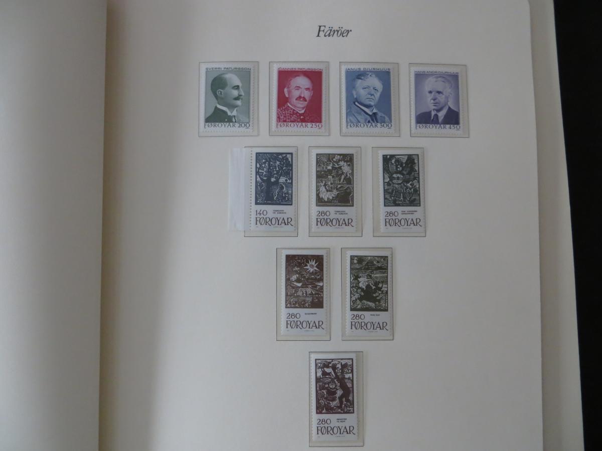 Färoer Luxus Sammlung 1975-1997 komlett posstfrisch auf Vordrucken Kat. 540,00 11