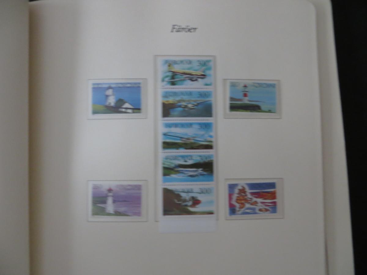 Färoer Luxus Sammlung 1975-1997 komlett posstfrisch auf Vordrucken Kat. 540,00 13