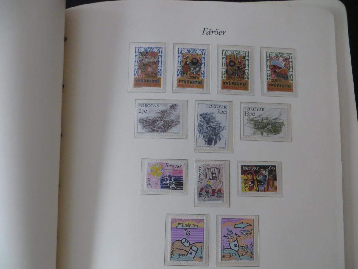 Färoer Luxus Sammlung 1975-1997 komlett posstfrisch auf Vordrucken Kat. 540,00 15
