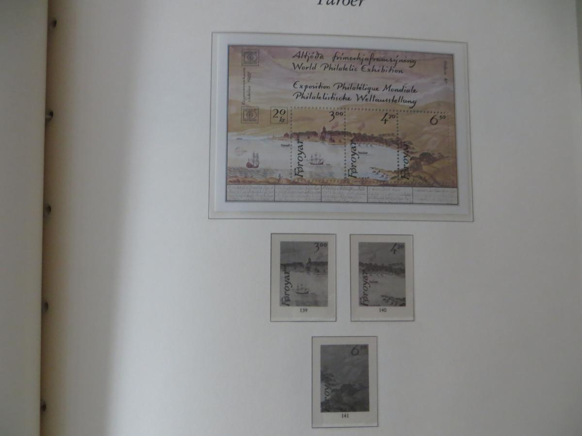 Färoer Luxus Sammlung 1975-1997 komlett posstfrisch auf Vordrucken Kat. 540,00 16