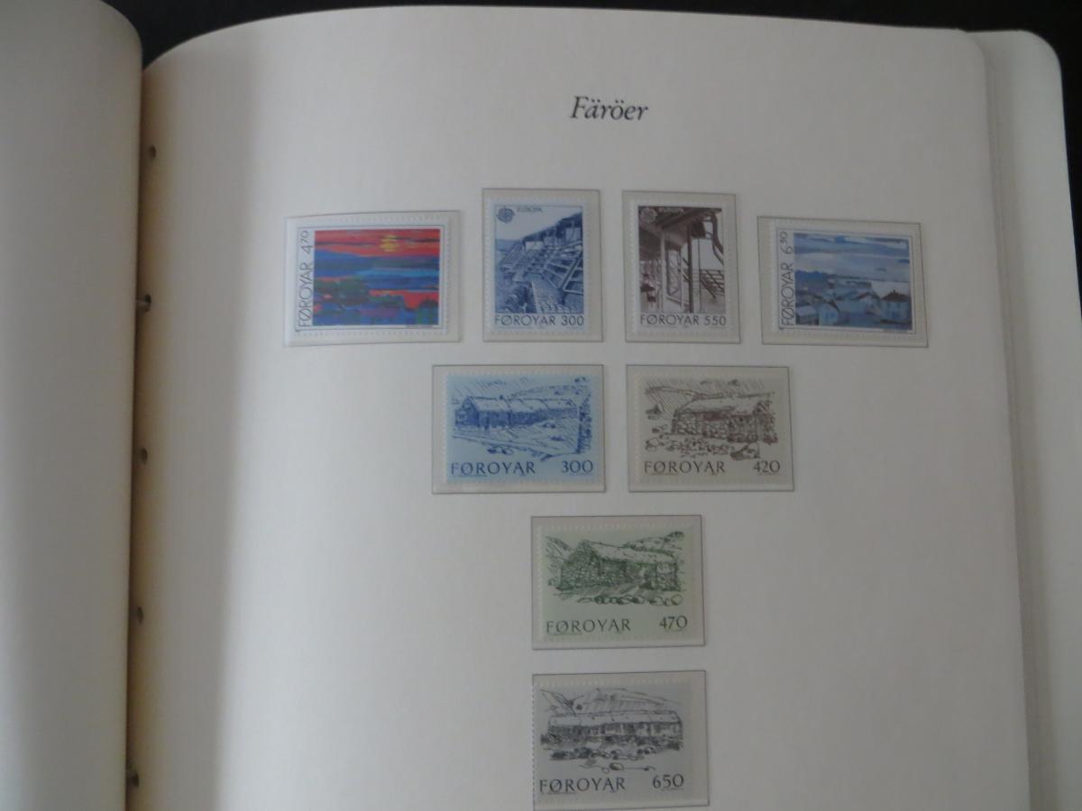 Färoer Luxus Sammlung 1975-1997 komlett posstfrisch auf Vordrucken Kat. 540,00 17
