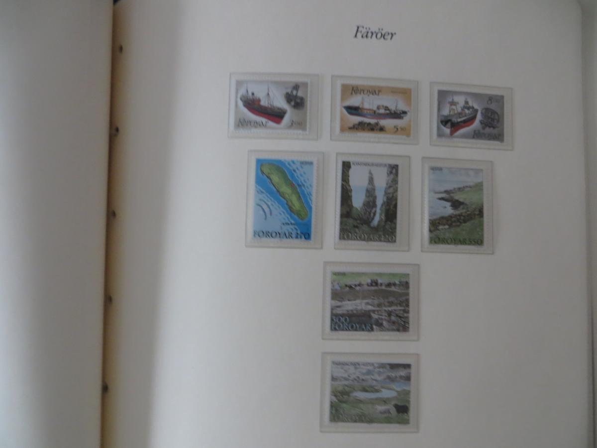 Färoer Luxus Sammlung 1975-1997 komlett posstfrisch auf Vordrucken Kat. 540,00 18