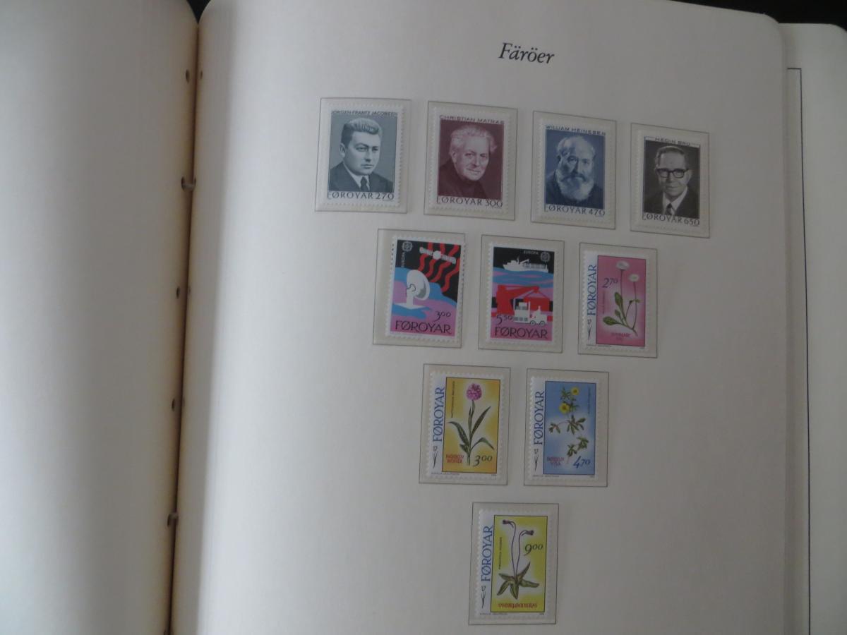 Färoer Luxus Sammlung 1975-1997 komlett posstfrisch auf Vordrucken Kat. 540,00 20