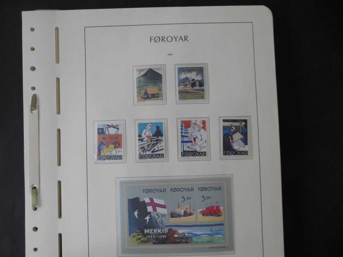 Färoer Luxus Sammlung 1975-1997 komlett posstfrisch auf Vordrucken Kat. 540,00 23