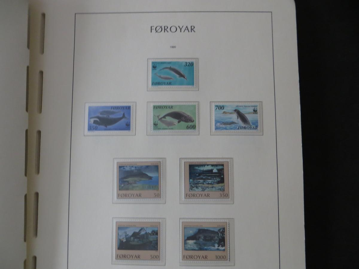 Färoer Luxus Sammlung 1975-1997 komlett posstfrisch auf Vordrucken Kat. 540,00 24