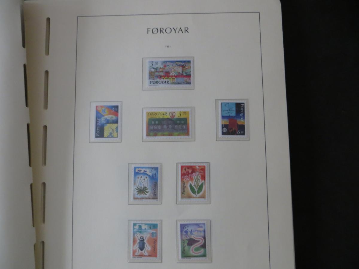 Färoer Luxus Sammlung 1975-1997 komlett posstfrisch auf Vordrucken Kat. 540,00 28