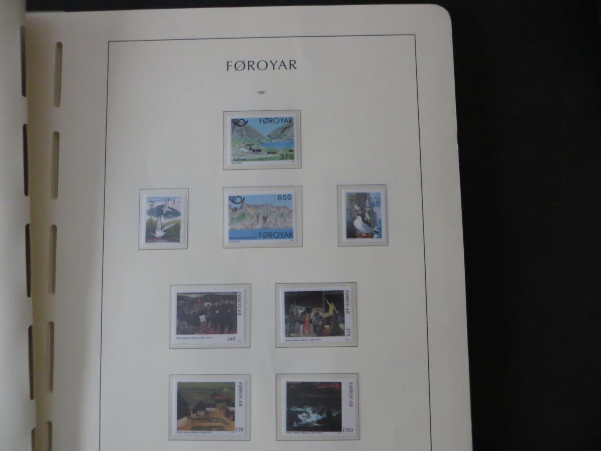 Färoer Luxus Sammlung 1975-1997 komlett posstfrisch auf Vordrucken Kat. 540,00 29