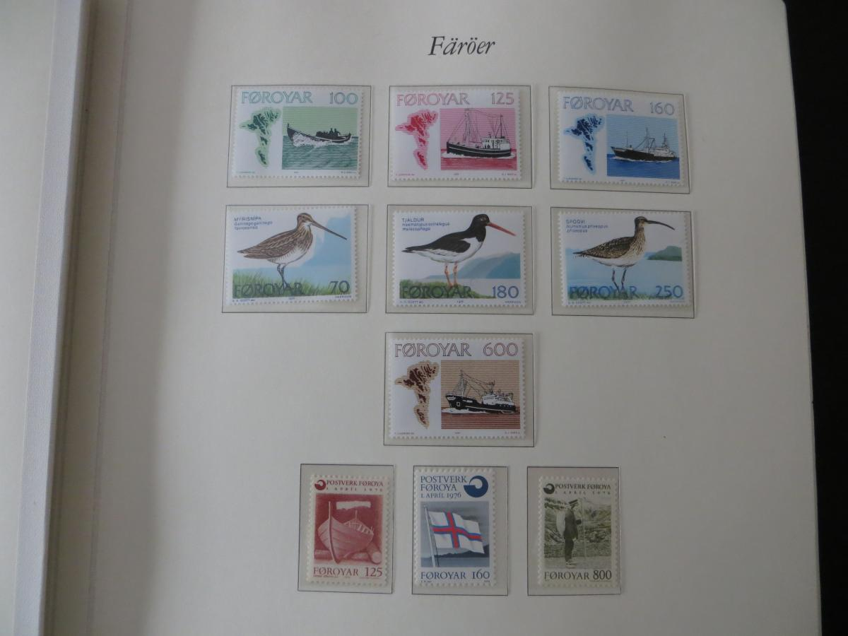 Färoer Luxus Sammlung 1975-1997 komlett posstfrisch auf Vordrucken Kat. 540,00 3