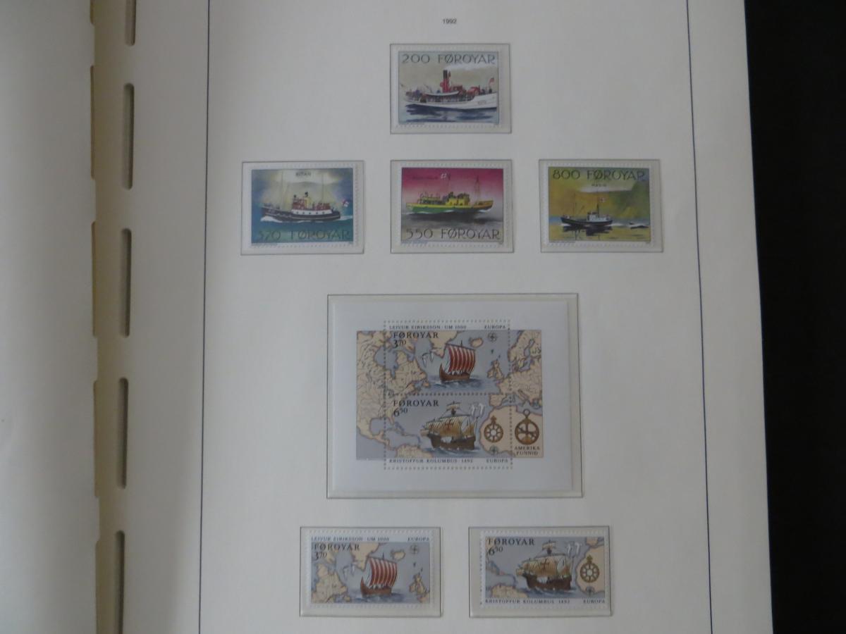 Färoer Luxus Sammlung 1975-1997 komlett posstfrisch auf Vordrucken Kat. 540,00 30