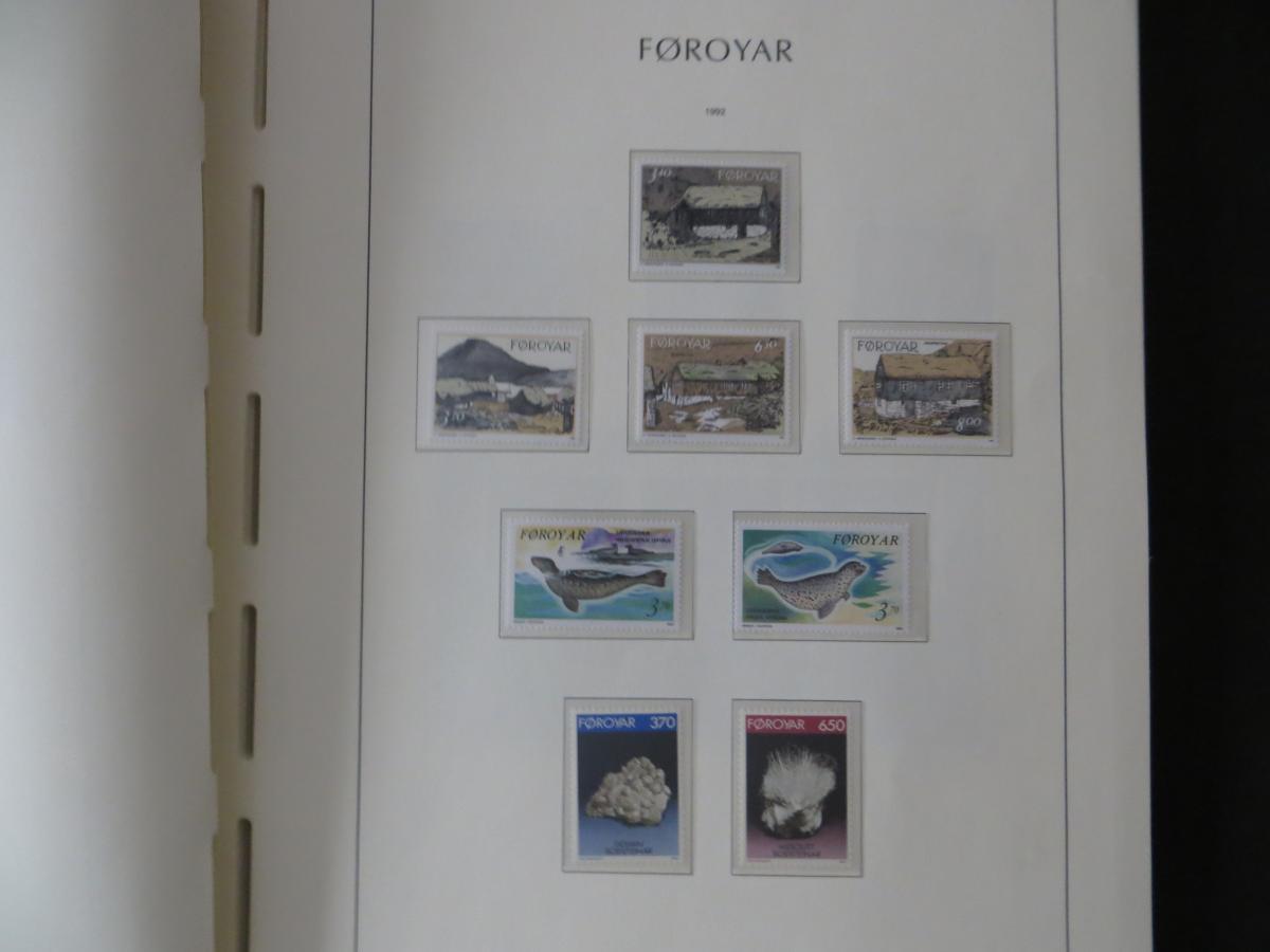 Färoer Luxus Sammlung 1975-1997 komlett posstfrisch auf Vordrucken Kat. 540,00 31