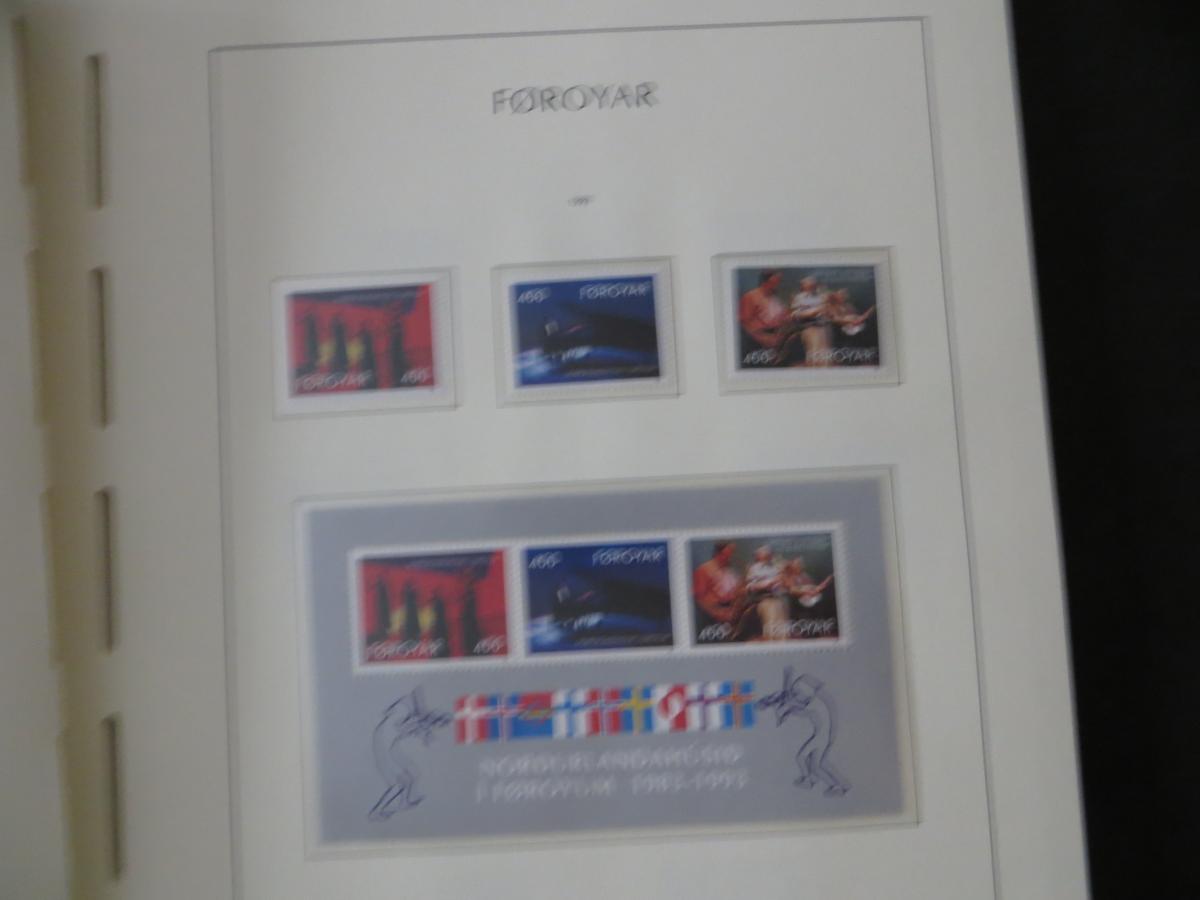 Färoer Luxus Sammlung 1975-1997 komlett posstfrisch auf Vordrucken Kat. 540,00 32