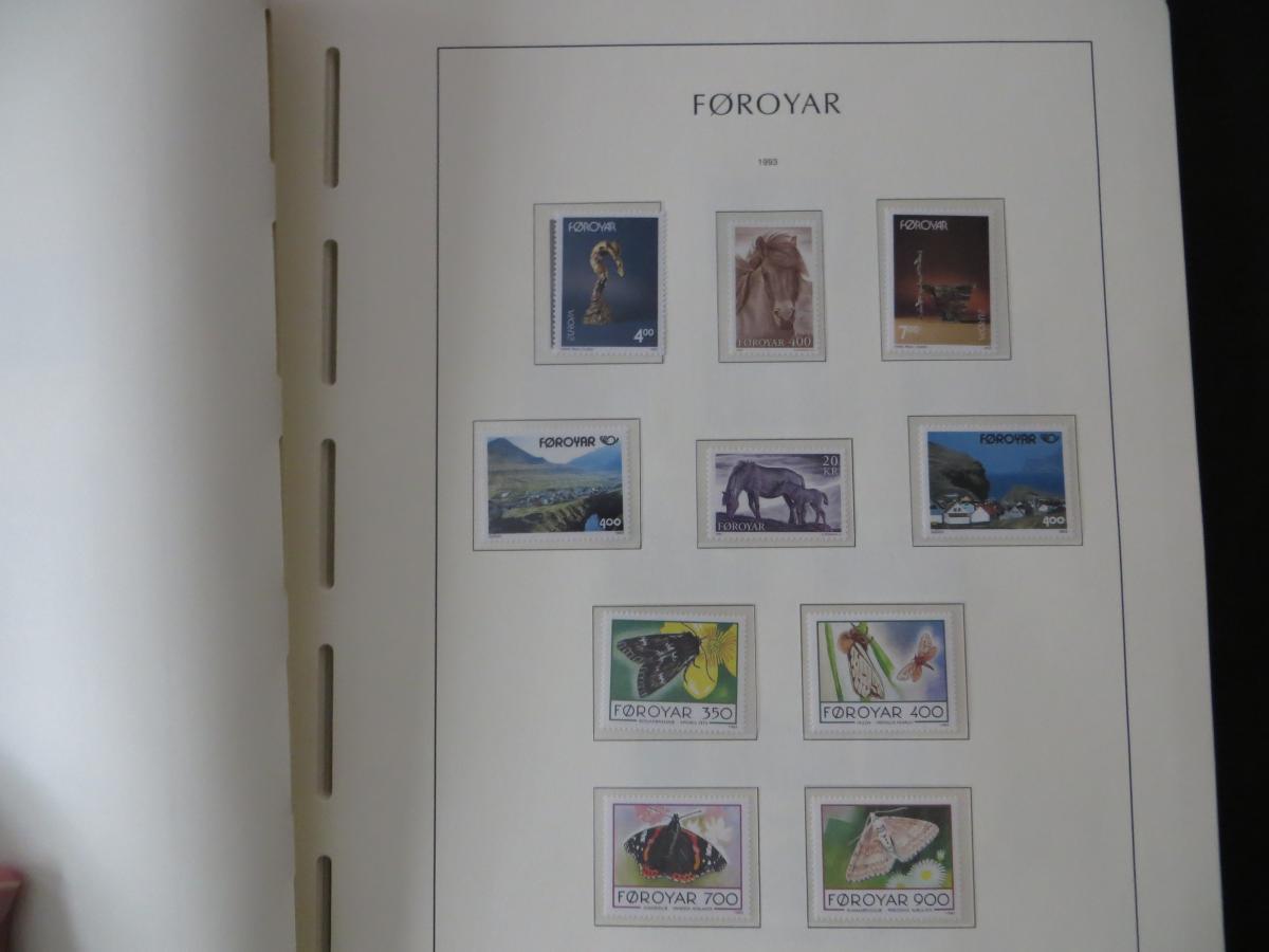 Färoer Luxus Sammlung 1975-1997 komlett posstfrisch auf Vordrucken Kat. 540,00 33