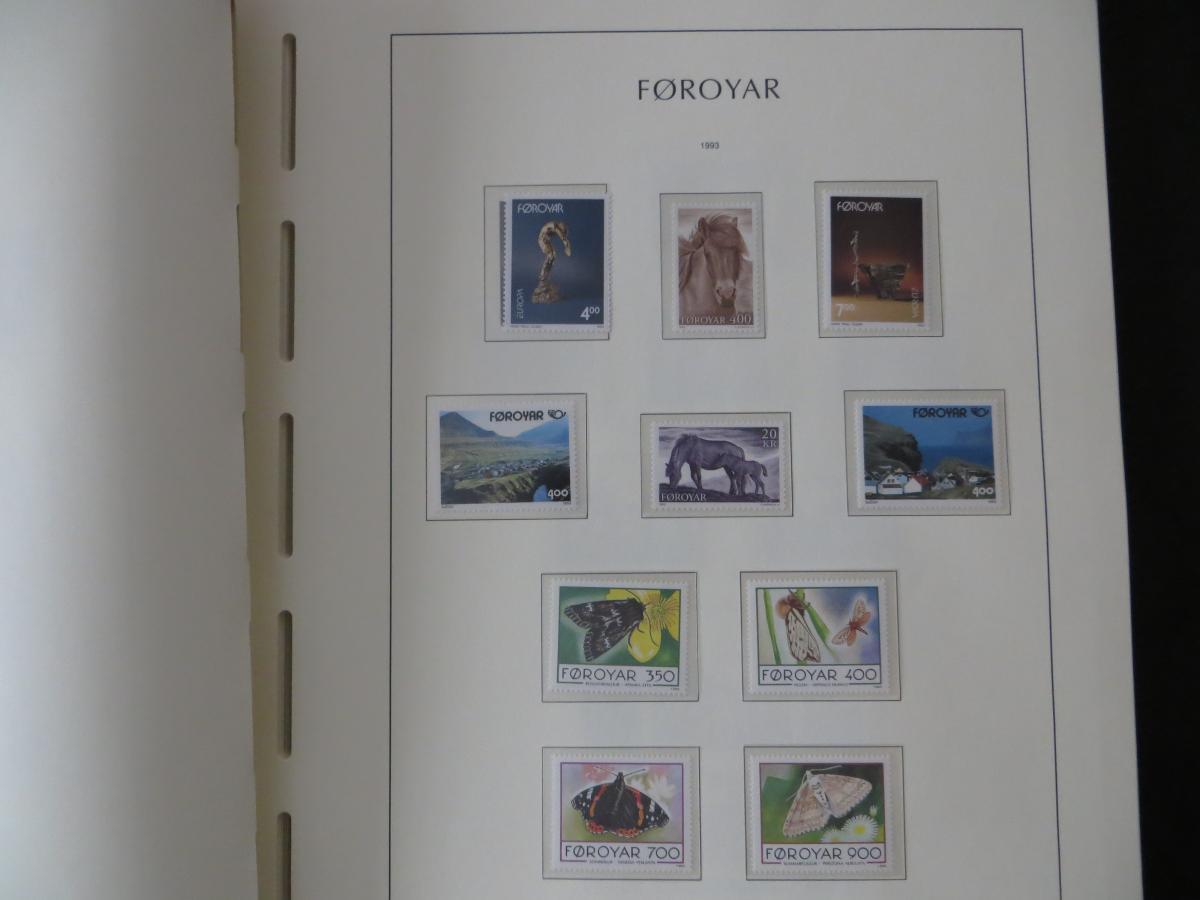 Färoer Luxus Sammlung 1975-1997 komlett posstfrisch auf Vordrucken Kat. 540,00 34