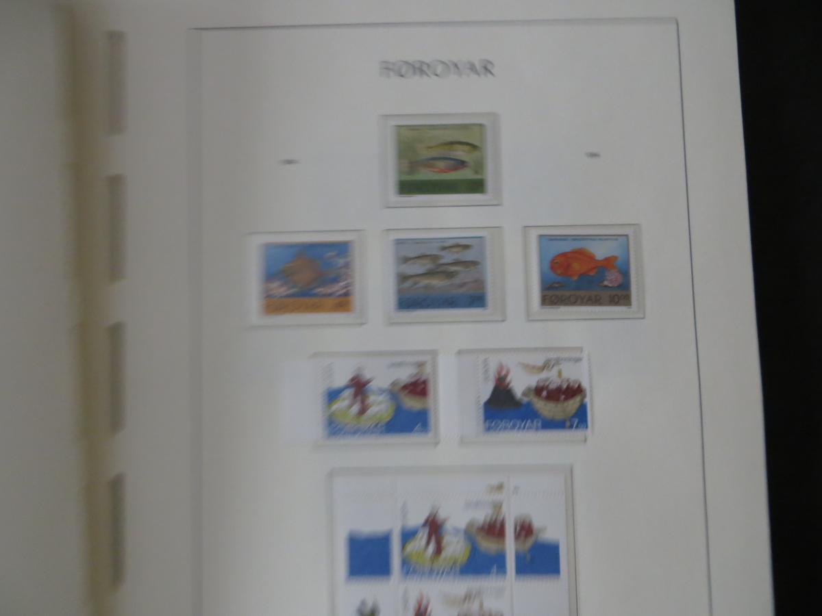 Färoer Luxus Sammlung 1975-1997 komlett posstfrisch auf Vordrucken Kat. 540,00 35