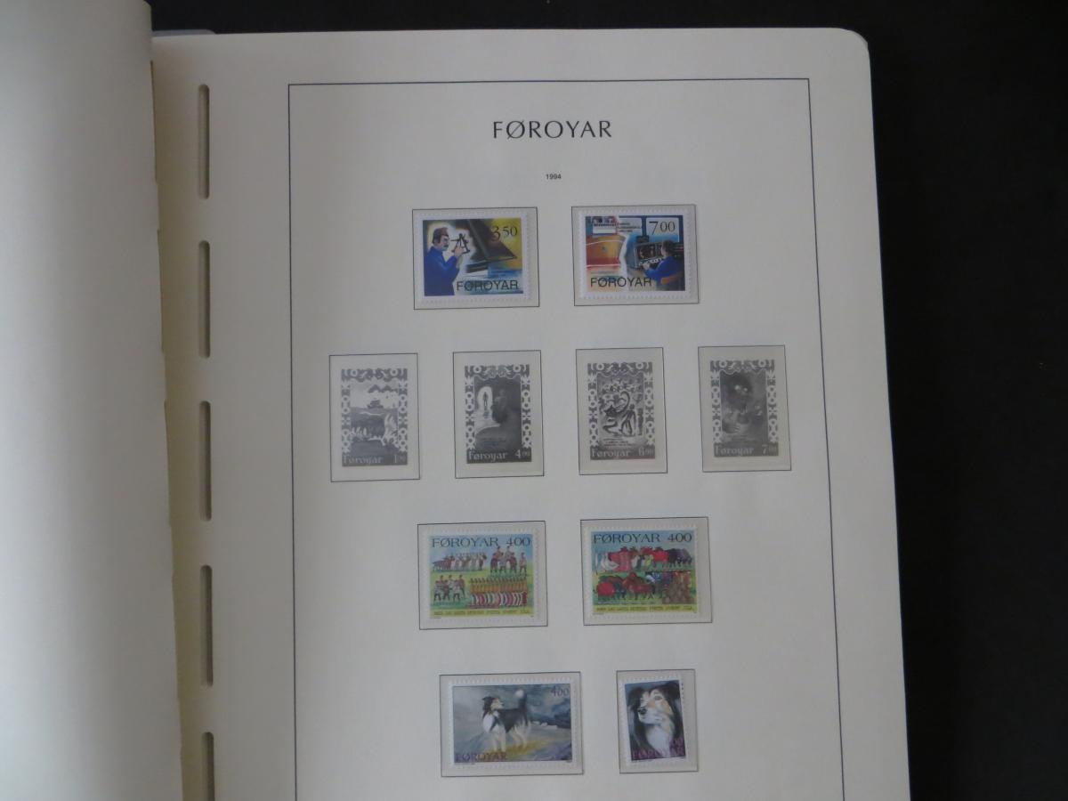 Färoer Luxus Sammlung 1975-1997 komlett posstfrisch auf Vordrucken Kat. 540,00 36