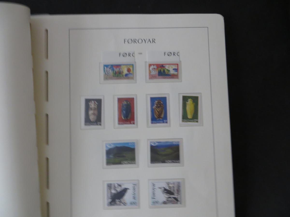 Färoer Luxus Sammlung 1975-1997 komlett posstfrisch auf Vordrucken Kat. 540,00 37