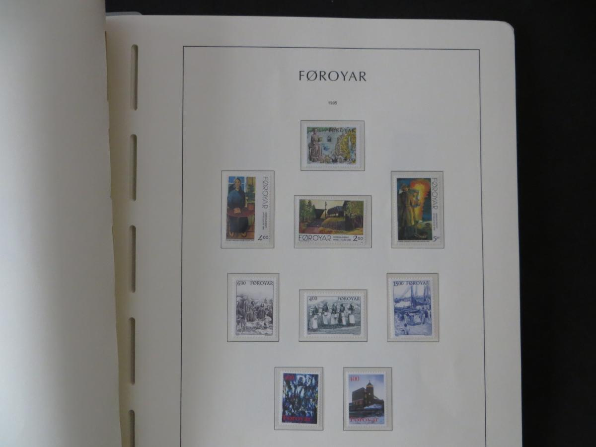 Färoer Luxus Sammlung 1975-1997 komlett posstfrisch auf Vordrucken Kat. 540,00 38