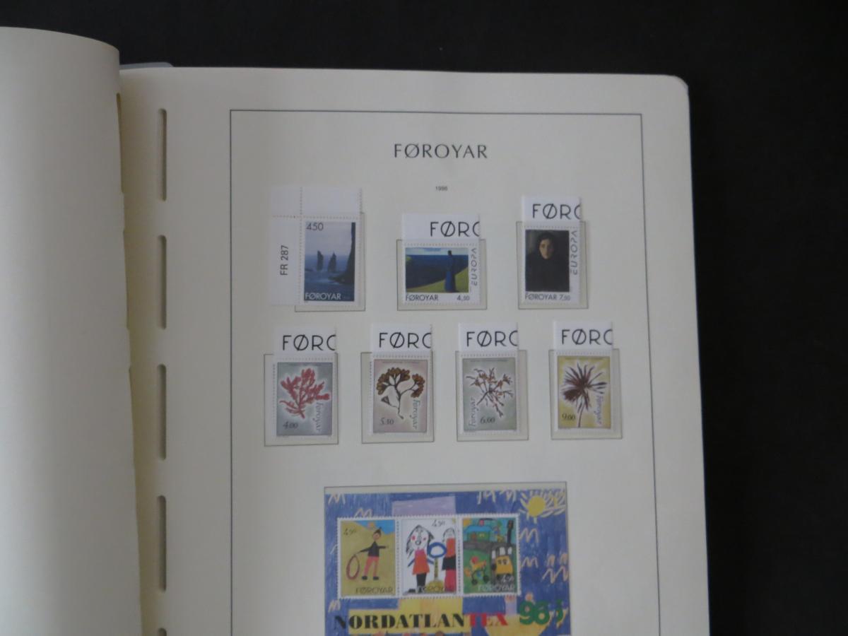 Färoer Luxus Sammlung 1975-1997 komlett posstfrisch auf Vordrucken Kat. 540,00 39