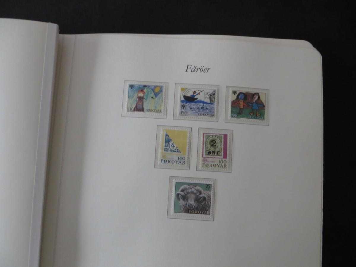 Färoer Luxus Sammlung 1975-1997 komlett posstfrisch auf Vordrucken Kat. 540,00 4