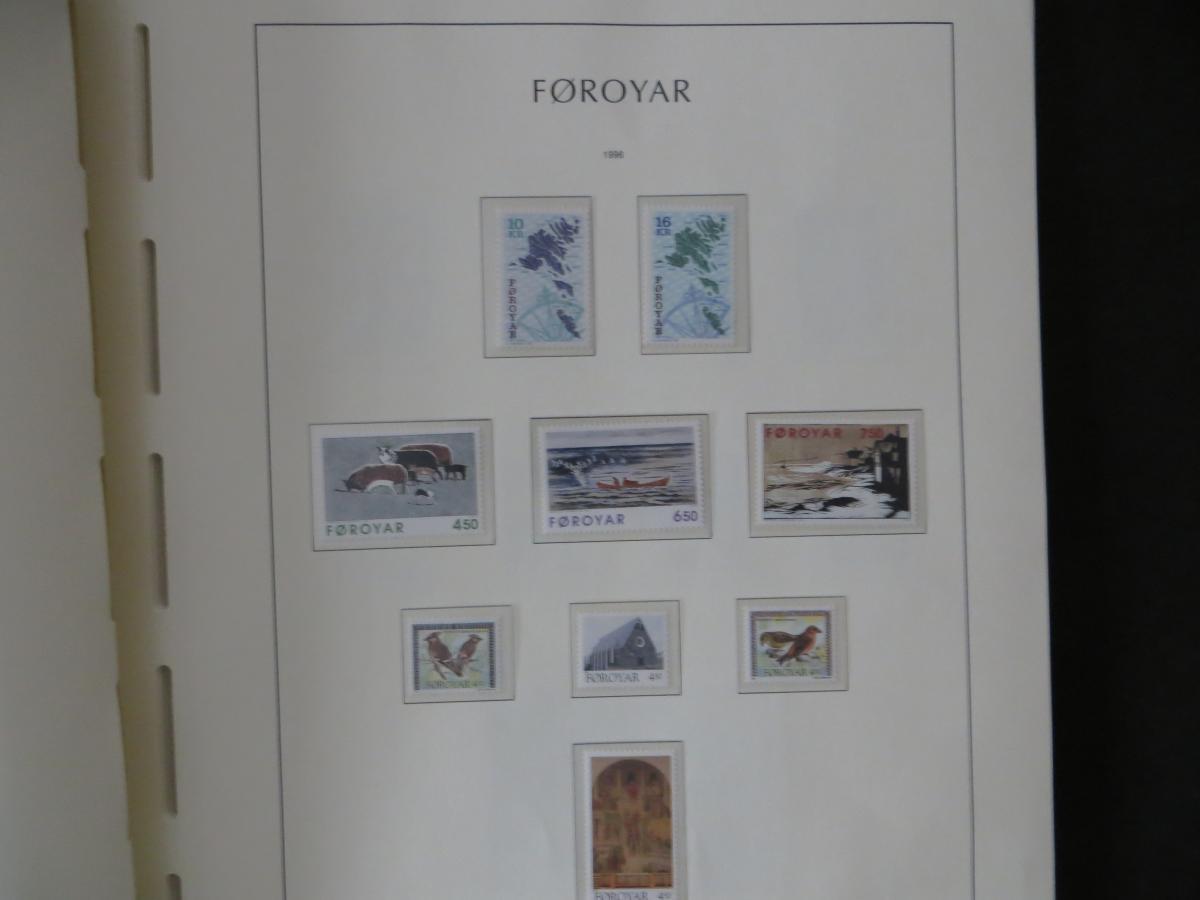 Färoer Luxus Sammlung 1975-1997 komlett posstfrisch auf Vordrucken Kat. 540,00 40