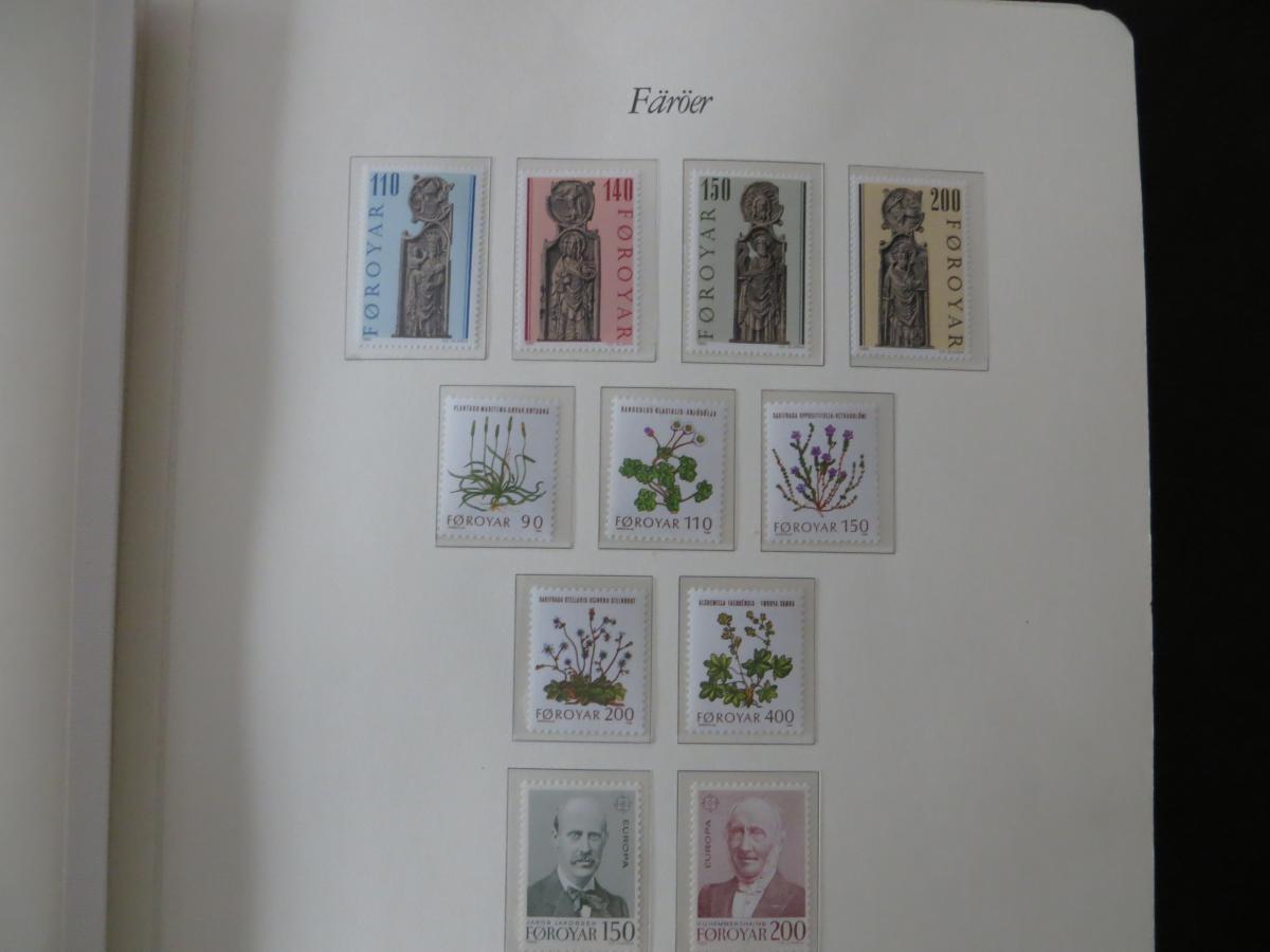 Färoer Luxus Sammlung 1975-1997 komlett posstfrisch auf Vordrucken Kat. 540,00 5