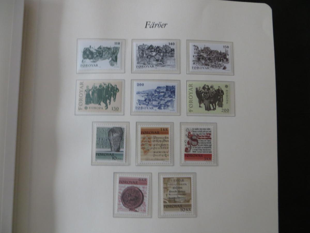 Färoer Luxus Sammlung 1975-1997 komlett posstfrisch auf Vordrucken Kat. 540,00 6