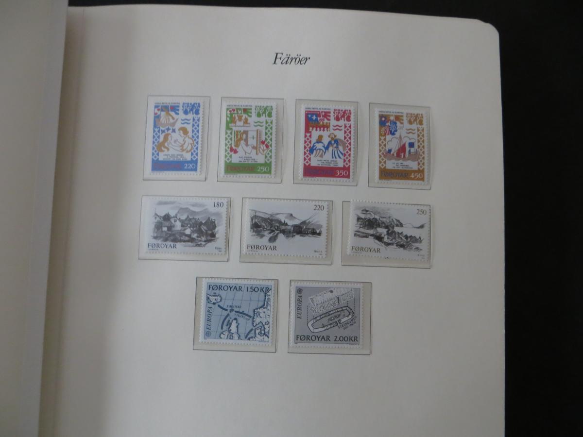 Färoer Luxus Sammlung 1975-1997 komlett posstfrisch auf Vordrucken Kat. 540,00 7