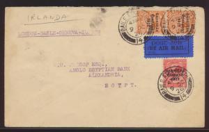 Flugpost air mail Irland Brief MIF Baile Átha Cliath Dublin n Alexandria Ägypten