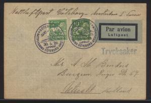 Flugpost air mail Schweden Göteburg Amsterdam Niederlande nach Utrecht 30.5.1929