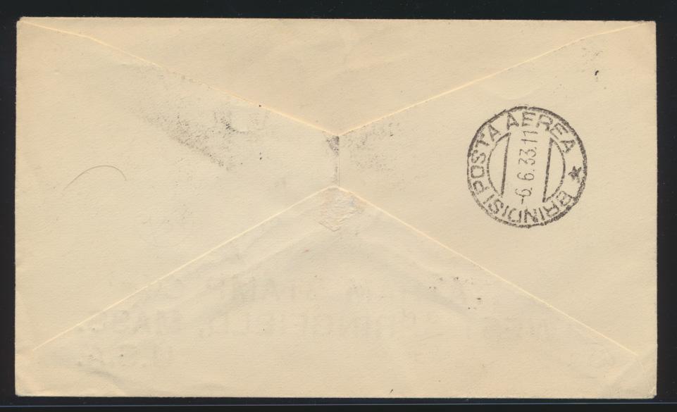 Flugpost air mail Griechenland West Springfield Massachusetts USA sign. Bolaffi 1