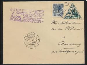 Flugpost air mail Niederlande Ede nach Bandoeng Indonesien 3.6.1937 Der Brief