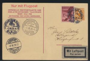 Flugpost air mail Österreich Privatganzsache +ZUF Philatelie SST Wien Klagenfurt