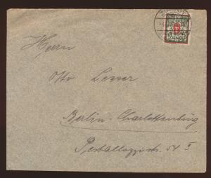 Danzig Brief EF128 ab K2  Zoppot Freie Stadt Danzig nach Berlin Charlottenburg