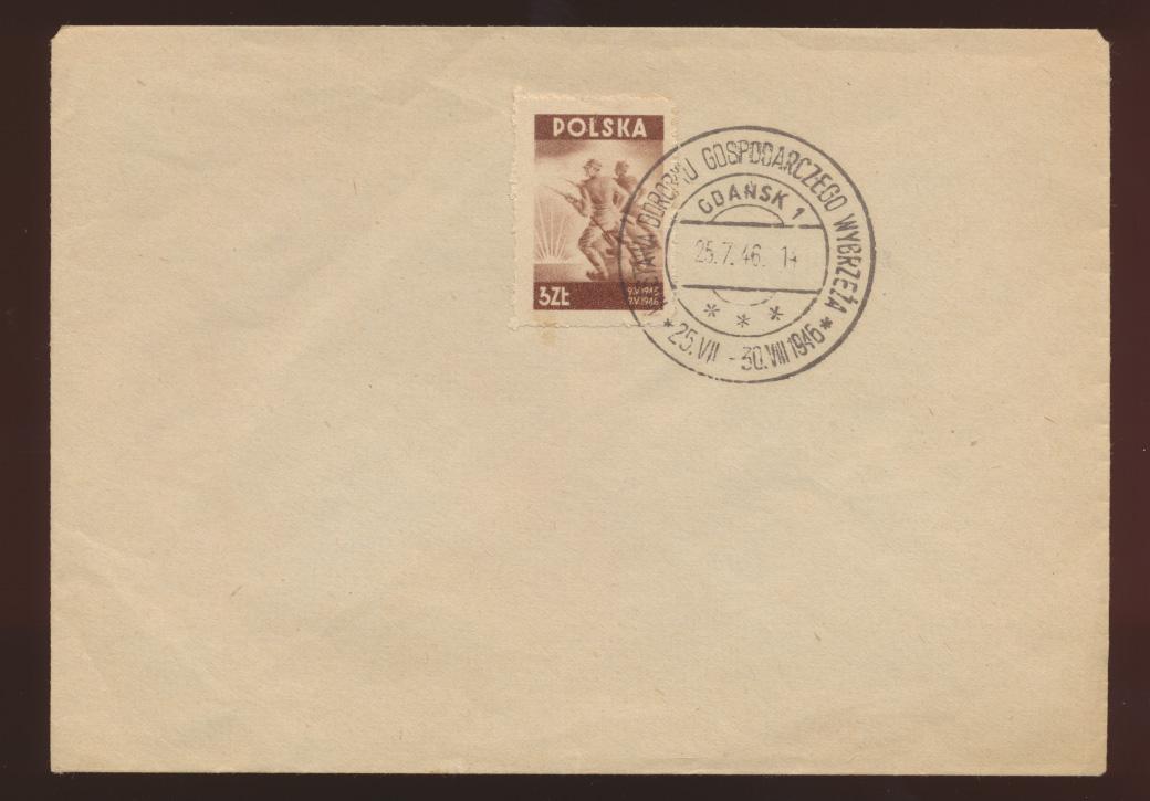 Danzig SST auf  Blankoumschlag 25.7.1946 0