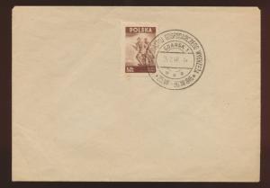 Danzig SST auf  Blankoumschlag 25.7.1946