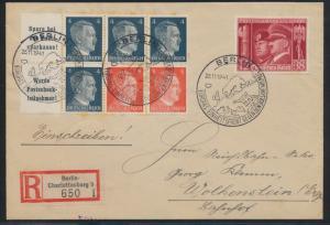 D. Reich Zusammendruck R Brief Heftchenblatt 119 selt. SST Berlin Europas