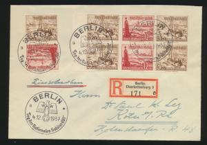 Reich Zusammendruck R Brief selt. SST Berlin 4x sauber abgeschlagen Tag der