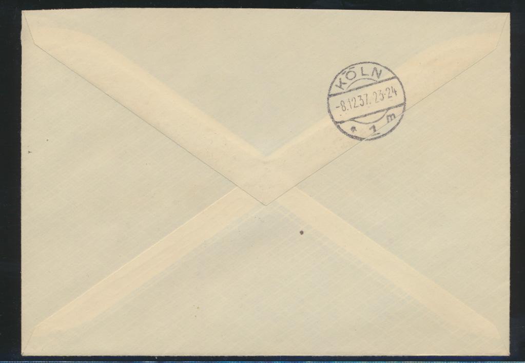 Reich Zusammendruck R Brief selt. SST Gau Hamburg Tag der nationalen Solidarität 1