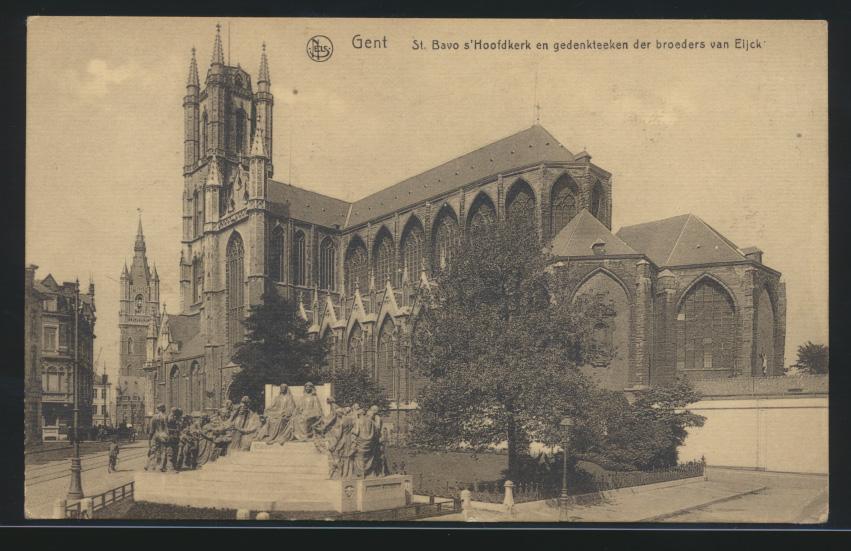 Ansichtskarte Gent Belgien per Feldpost nach Labiau Ostpreussen 29.6.1917 0
