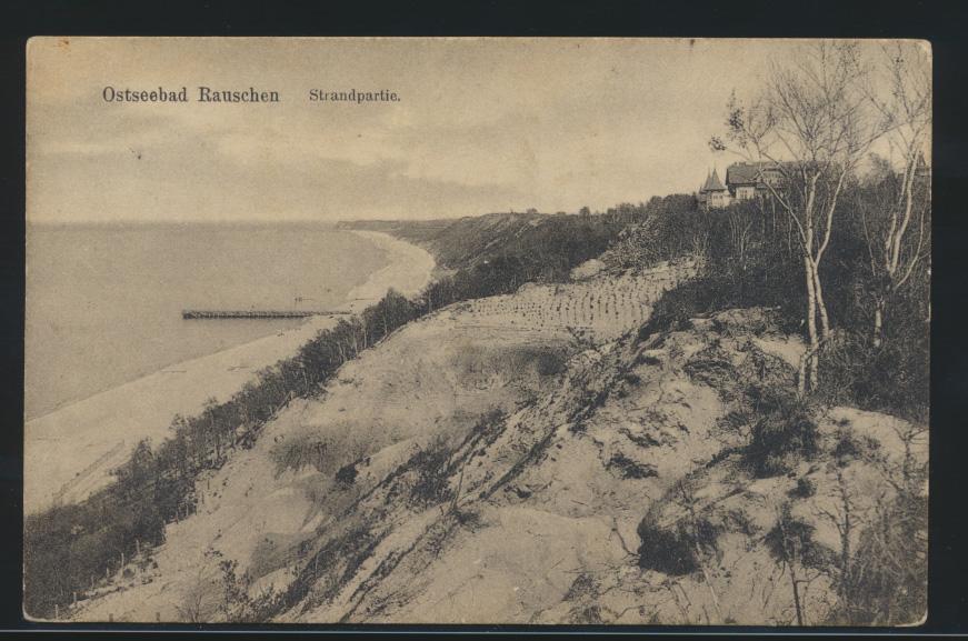 Ansichtskarte Rauschen Swetlogorsk Ostpreussen Ostsee Strandpartie n Königsberg  0