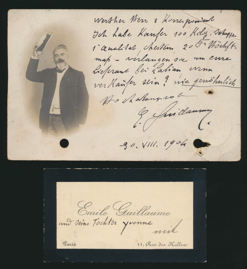 Autogramm Autograph Ansichtskarte Émile Oscar Guillaume Bildhauer Frankreich  0