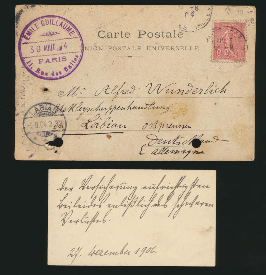 Autogramm Autograph Ansichtskarte Émile Oscar Guillaume Bildhauer Frankreich  1