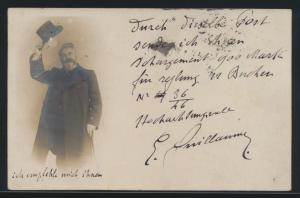 Autogramm Autograph Ansichtskarte Émile Oscar Guillaume Bildhauer Frankreich