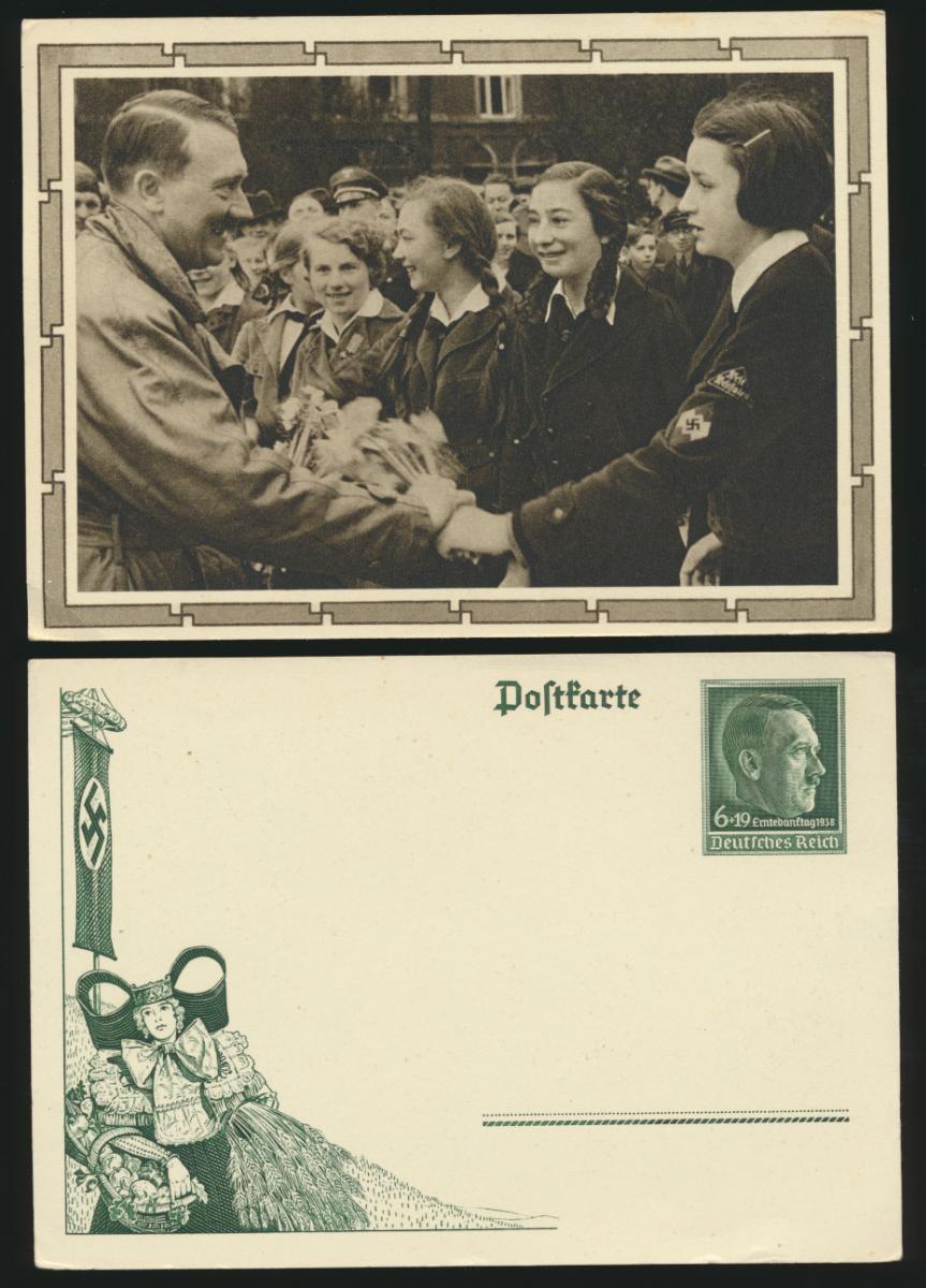 Lot meist 3. Reich Lot Ganzsachen + Foto Ansichtskarten gesamt 6 Stück Krieg 1