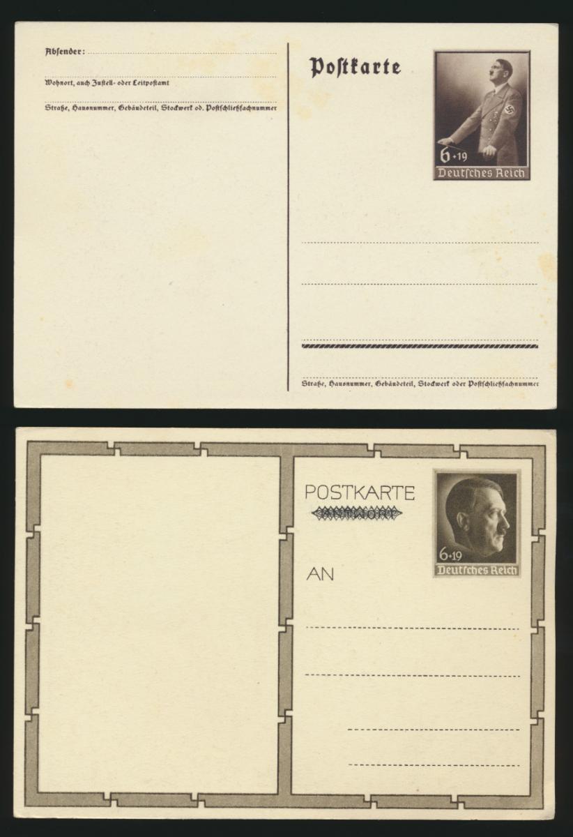 Lot meist 3. Reich Lot Ganzsachen + Foto Ansichtskarten gesamt 6 Stück Krieg 3