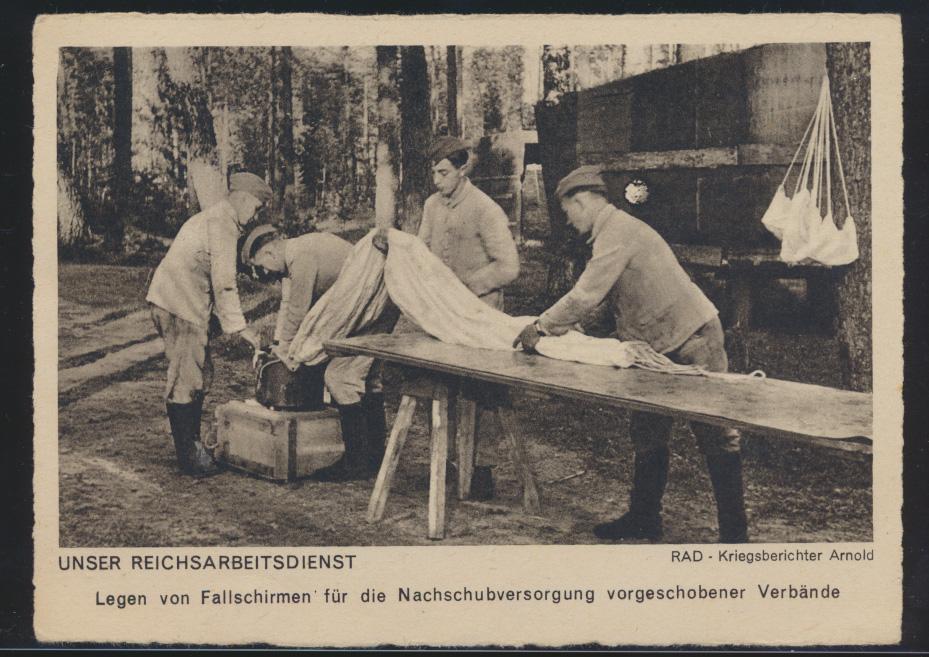 Ansichtskarte 2 Weltkrieg Reichsarbeitsdienst RAD Kriegsberichter Arnold  0