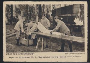 Ansichtskarte 2 Weltkrieg Reichsarbeitsdienst RAD Kriegsberichter Arnold