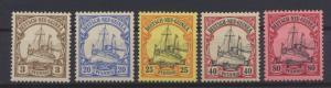 Kolonien Deutsch-Neuguinea 7 + 10-11 + 13 + 15 Luxus postfrisch MNH Kat.W. 26,00